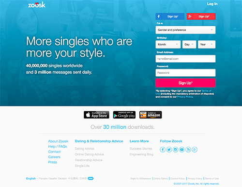 zoosk dating site reviews
